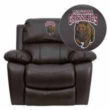 Flash Furniture MEN-DA3439-91-BRN-40018-EMB-GG Montana Grizzlies Embroidered Brown Leather Rocker Recliner
