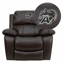 Flash Furniture MEN-DA3439-91-BRN-40021-EMB-GG U.S. Military Academy Black Knights Embroidered Brown Leather Rocker Recliner
