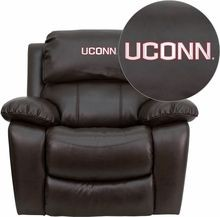 Flash Furniture MEN-DA3439-91-BRN-40023-EMB-GG Connecticut Huskies Embroidered Brown Leather Rocker Recliner