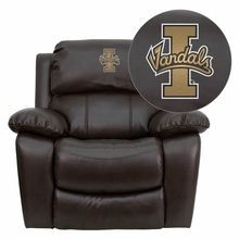 Flash Furniture MEN-DA3439-91-BRN-40025-EMB-GG Idaho Vandals Embroidered Brown Leather Rocker Recliner