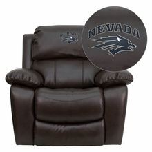 Flash Furniture MEN-DA3439-91-BRN-40026-EMB-GG Nevada Wolfpack Embroidered Brown Leather Rocker Recliner