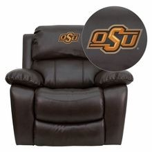 Flash Furniture MEN-DA3439-91-BRN-40028-EMB-GG Oklahoma State University Cowboys and Cowgirls Embroidered Brown Leather Rocker Recliner