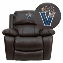 Flash Furniture MEN-DA3439-91-BRN-40032-EMB-GG Villanova University Wildcats Embroidered Brown Leather Rocker Recliner