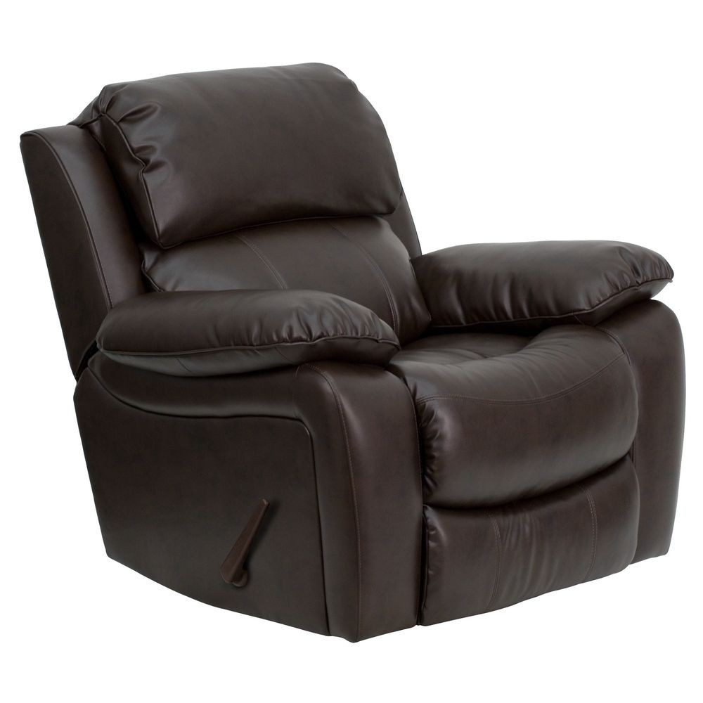 Flash Furniture MEN-DA3439-91-BRN-GG Brown Leather Rocker Recliner