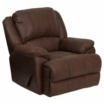 Flash Furniture MEN-DSC01035-BOMBER-GG OverStuffed Bomber Jacket Microfiber Lever Rocker Recliner