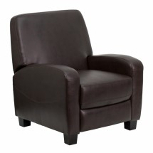 Flash Furniture MEN-DSC01067-BRN-GG Brown Leather Push Back Recliner