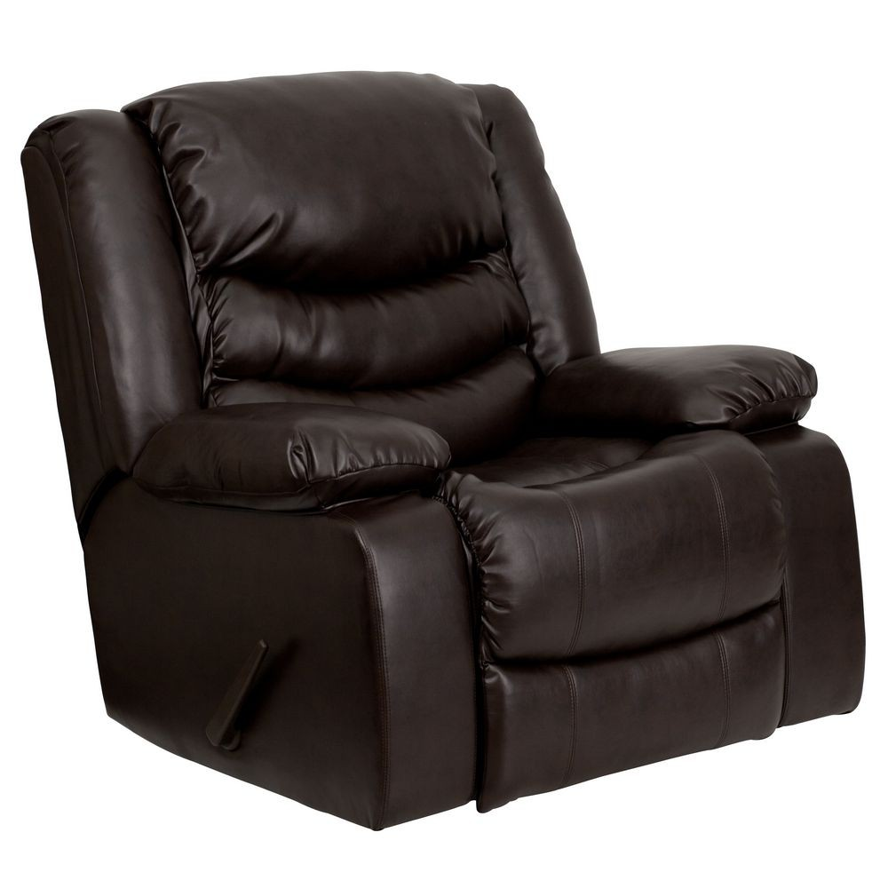 Flash Furniture Men Dsc01078 Brn Gg Plush Brown Leather