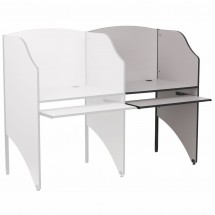 Flash Furniture MT-M6202-GY-ADD-GG Add-On Study Carrel in Nebula Grey Finish