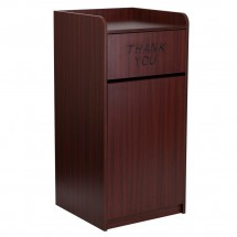 Flash-Furniture-MT-M8520-TRA-MAH-GG-Wood-Tray-Top-Mahogany-Finish-Trash-Receptacle