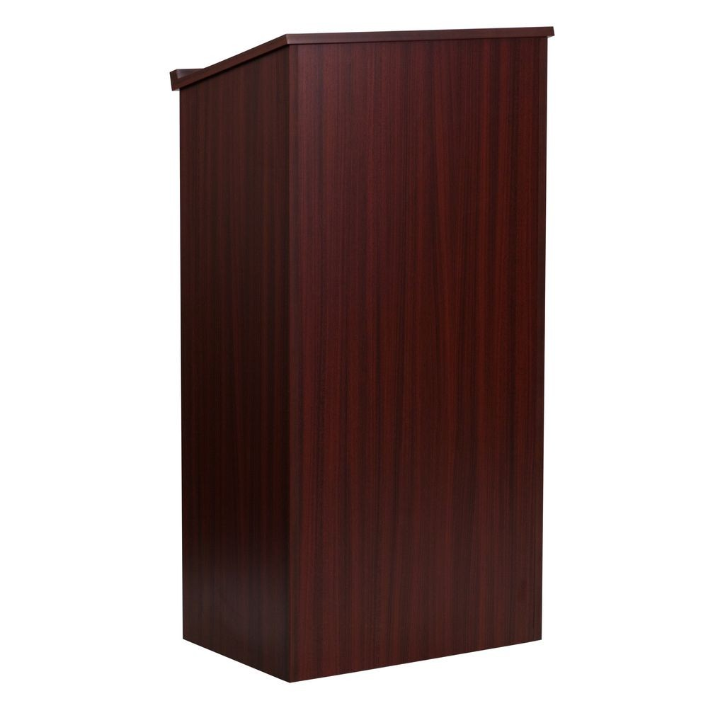 Flash Furniture MT-M8830-LECT-MAH-GG Stand-Up Mahogany Lectern