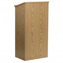 Flash Furniture MT-M8830-LECT-OAK-GG Stand-Up Oak Lectern