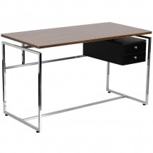 Flash Furniture NAN-JN-2120-GG Computer Desk with Two Drawer Pedestal