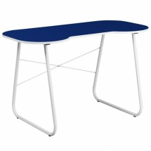 Flash Furniture NAN-JN-2360-NY-GG Navy Computer Desk with White Frame