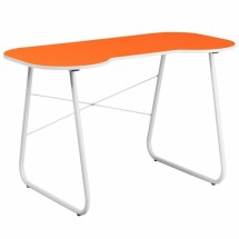 Flash Furniture NAN-JN-2360-OR-GG Orange Computer Desk with White Frame