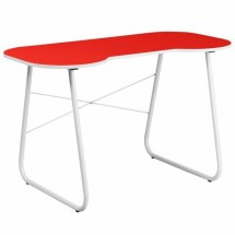 Flash Furniture NAN-JN-2360-RED-GG Red Computer Desk with White Frame