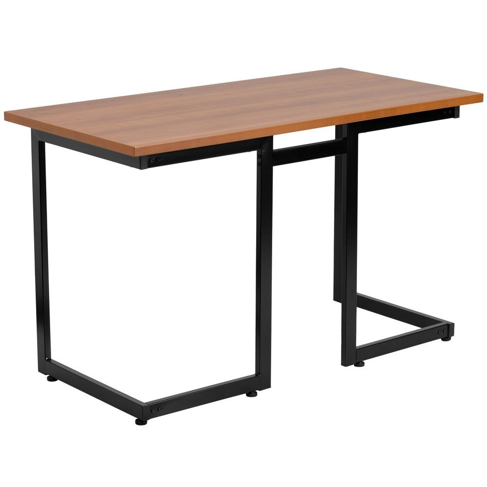 Flash Furniture NAN-JN-2811-GG Cherry Computer Desk with Black Frame