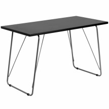 Flash Furniture NAN-JN-2956-BK-GG Black Computer Desk with Silver Frame