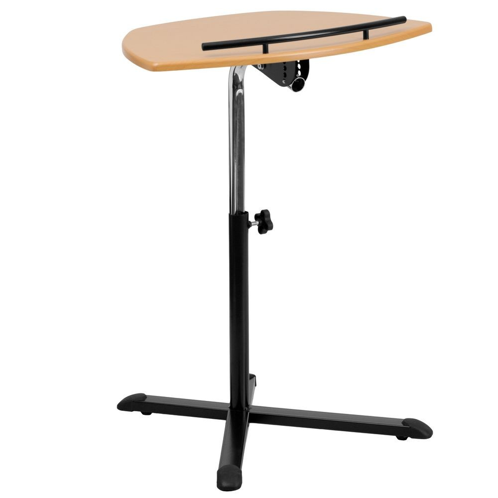 Flash Furniture NAN-LT-04-GG Height Adjustable Natural Laptop Computer Desk