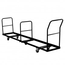 Flash Furniture NG-DOLLY-309-50-GG Vertical Storage Folding Chair Dolly - 50 Chair Capacity