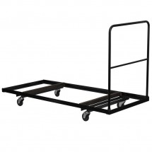 "Flash Furniture NG-DY3072-GG Black Steel Folding Table Dolly for 30"" x 72"" Rectangular Folding Tables"
