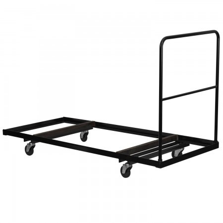 """Flash Furniture NG-DY3072-GG Black Steel Folding Table Dolly for 30"""" x 72"""" Rectangular Folding Tables"""