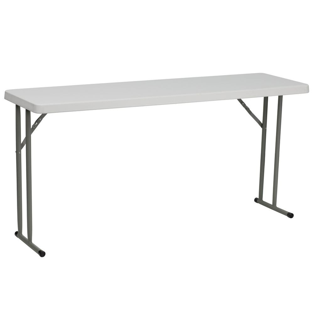 Flash Furniture RBGG X Granite White Plastic Folding - 18 x 60 training table