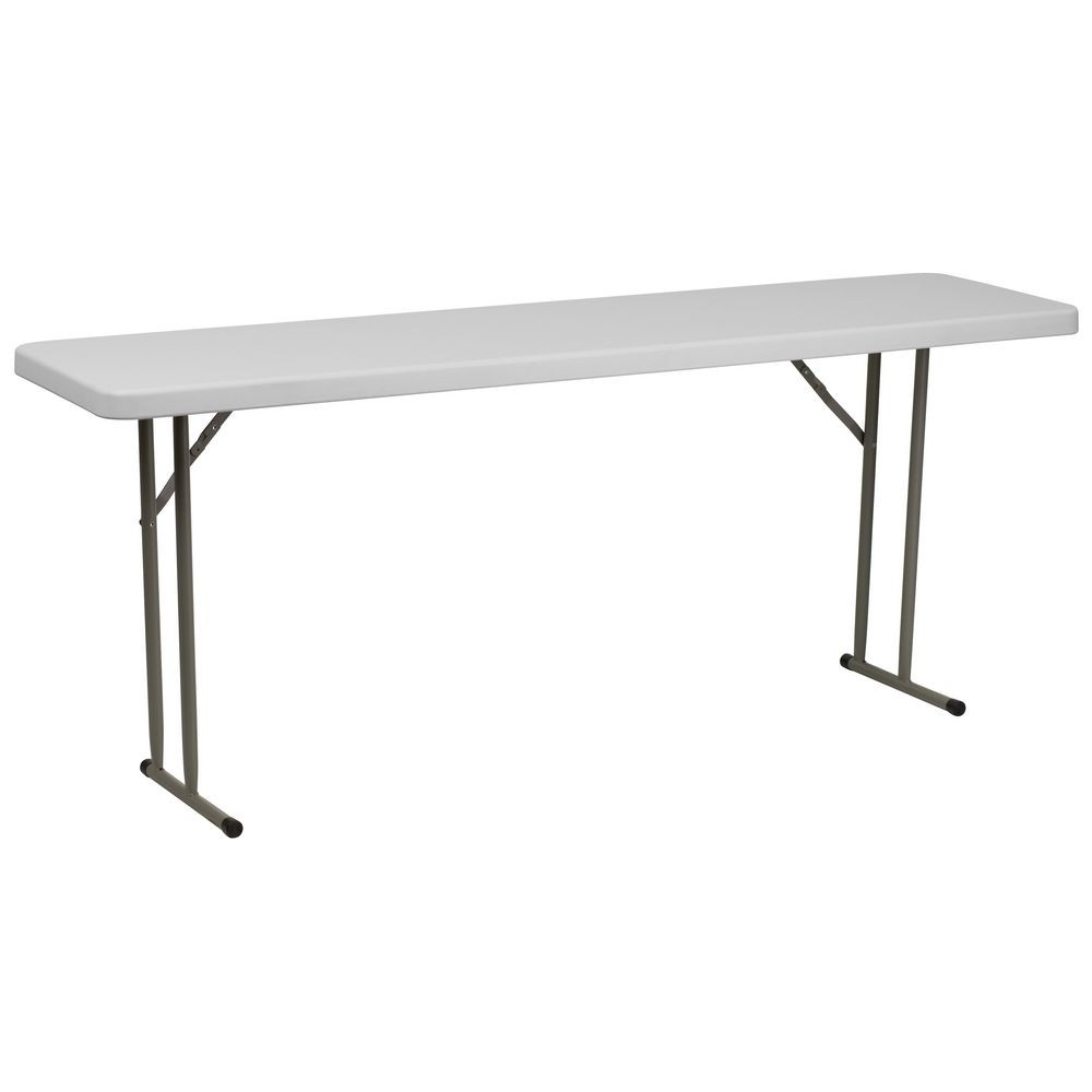 Flash Furniture RB-1872-GG 18'' x 72'' Granite White Plastic Folding Training Table