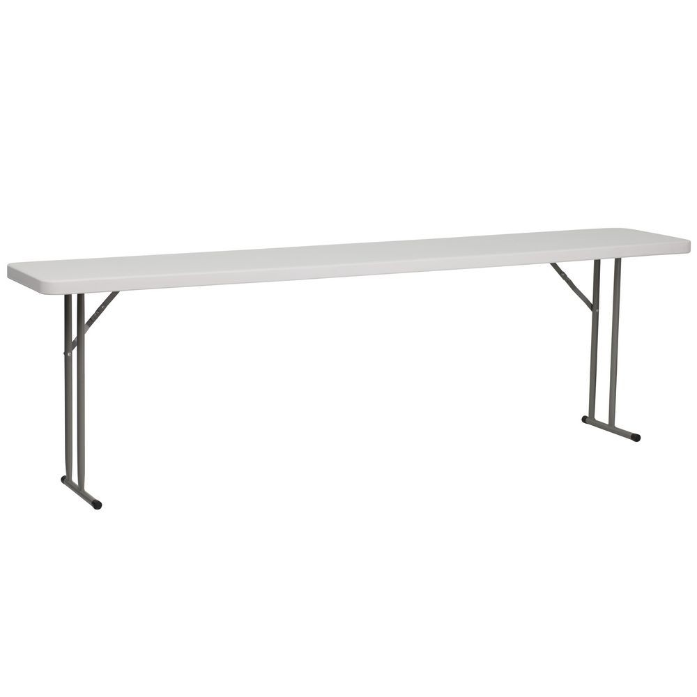 Flash Furniture RB-1896-GG 18'' x 96'' Granite White Plastic Folding Training Table