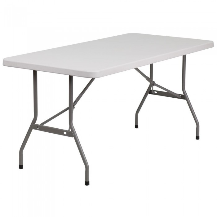 Flash Furniture RB-3060-GG 30'' x 60'' Blow Molded Plastic Folding Table