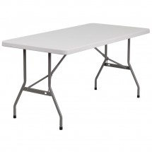 Flash Furniture RB-3060-GG Blow Molded Plastic Folding Table 30 x 60