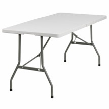 Flash Furniture RB-3060FH-GG 30'' x 60'' Plastic Bi-Folding Table