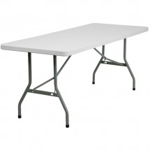 Flash Furniture RB-3072-GG 30'' x 72'' Granite White Plastic Folding Table