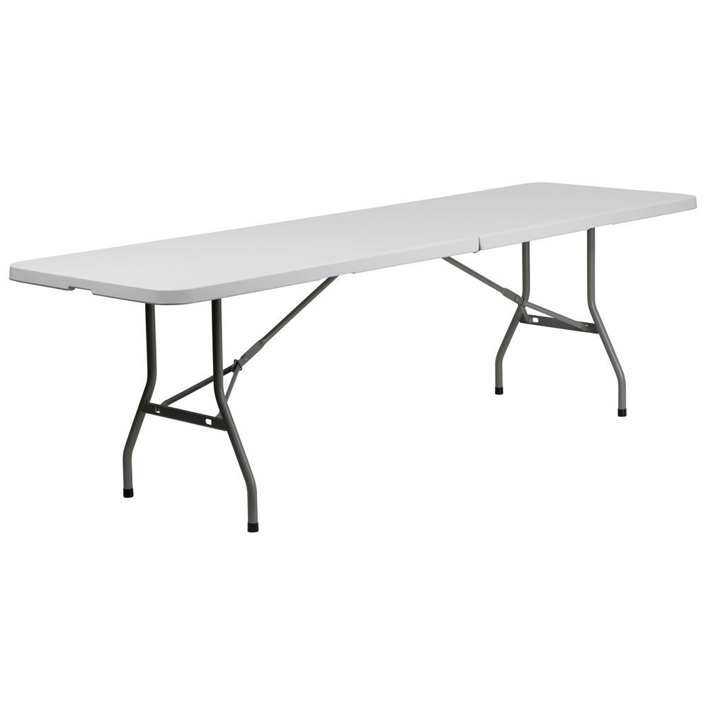 "Flash Furniture RB-3096FH-GG Plastic Bi-Folding Table 30"" x 96"""