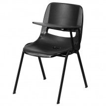 Flash-Furniture-RUT-EO1-BK-LTAB-GG-Black-Ergonomic-Shell-Chair-with-Left-Handed-Flip-Up-Tablet-Arm