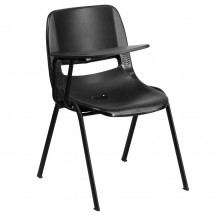 Flash-Furniture-RUT-EO1-BK-RTAB-GG-Black-Ergonomic-Shell-Chair-with-Right-Handed-Flip-Up-Tablet-Arm