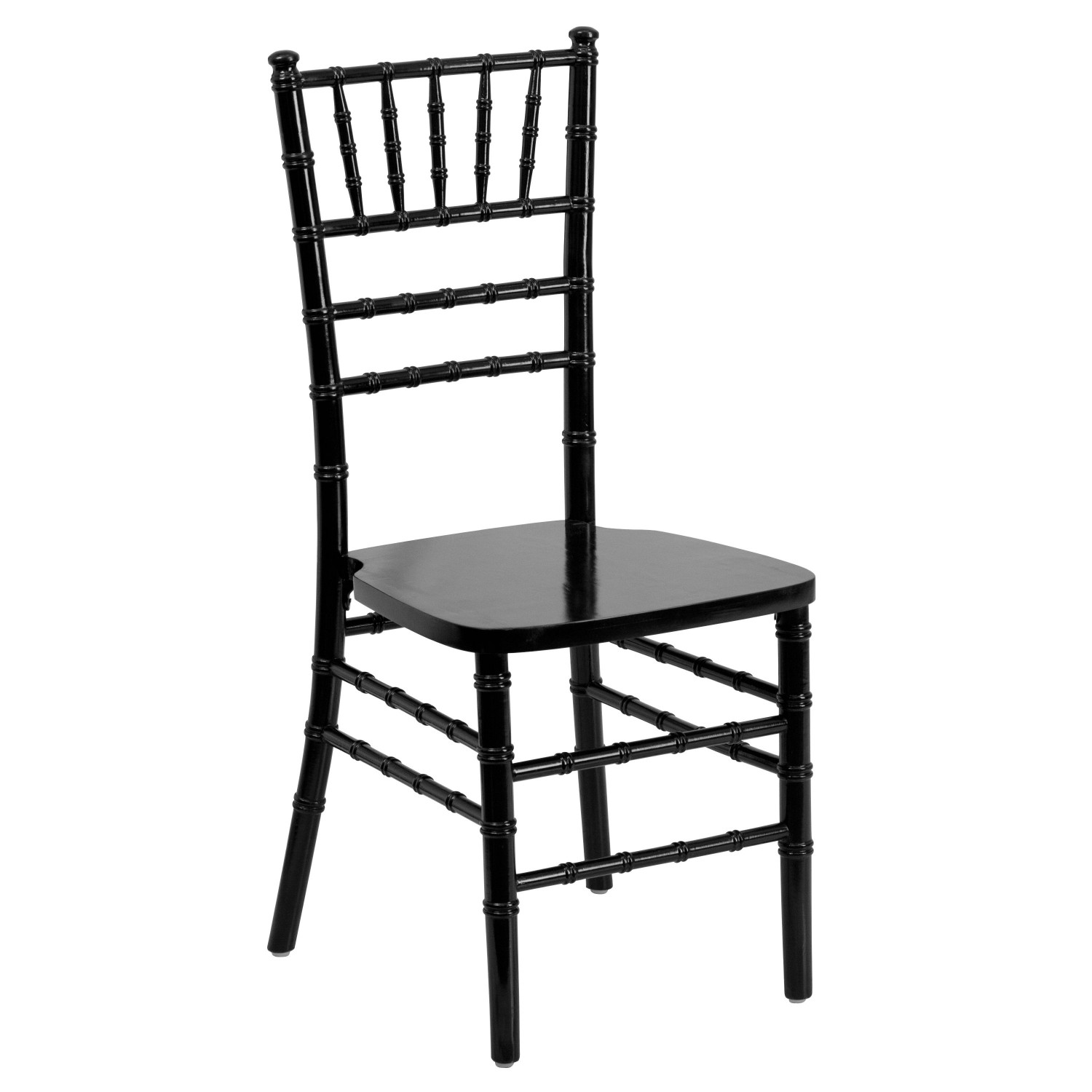 Flash Furniture SZ-BLACK-GG Flash Elegance Supreme Black Wood Chiavari Chair