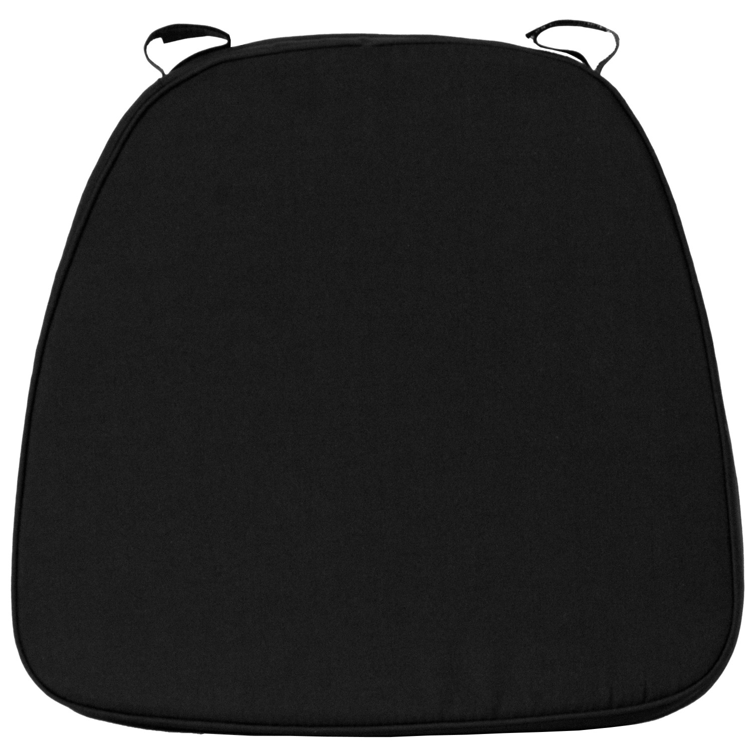 Flash Furniture SZ-BLACK-SOFT-BAR-GG Soft Black Fabric Chiavari Cushion for Wood Chiavari Bar Stools