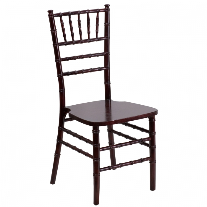 Flash Furniture SZ-MAHOGANY-GG Flash Elegance Supreme Mahogany Wood Chiavari Chair