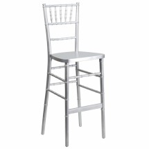 Flash Furniture SZ-SILVER-BAR-GG Flash Elegance Silver Wood Chiavari Bar Stool