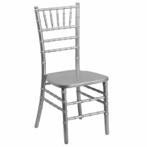 Flash Furniture SZ-SILVER-GG Flash Elegance Supreme Silver Wood Chiavari Chair