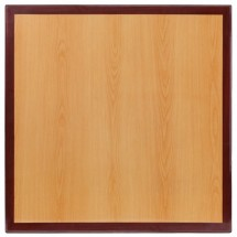 Flash Furniture TP-2TONE-2424-GG Square Two-Tone Resin Cherry and Mahogany Table Top 24""