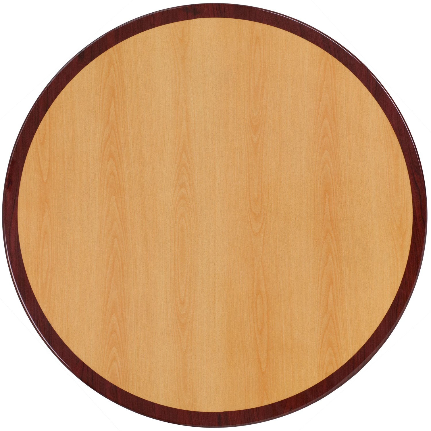 Flash Furniture TP-2TONE-24RD-GG Round Two-Tone Resin Cherry and Mahogany Table Top, 24''