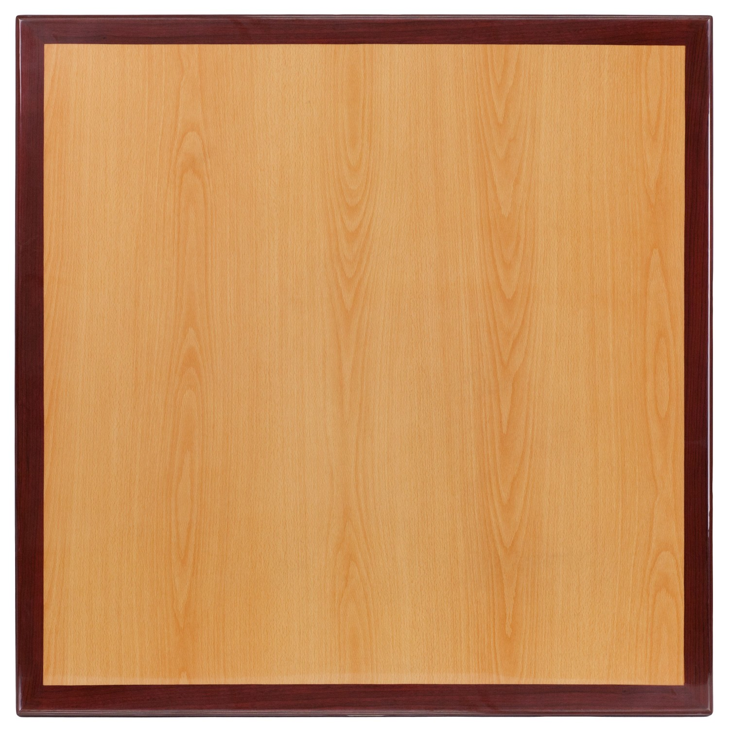 Flash Furniture TP-2TONE-3030-GG Square Two-Tone Resin Cherry and Mahogany Table Top, 30''