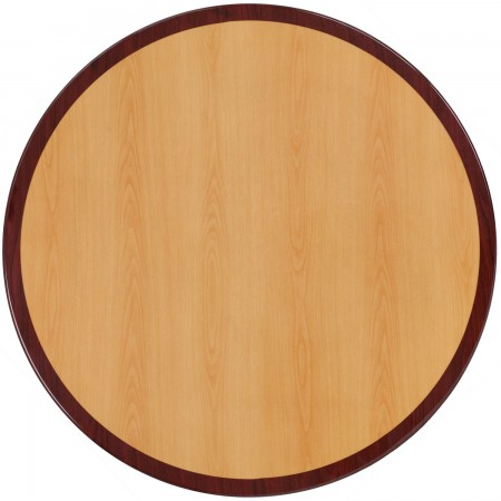 """Flash Furniture TP-2TONE-36RD-GG Round Two-Tone Resin Cherry and Mahogany Table Top 36"""""""