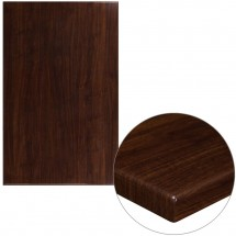 """Flash Furniture TP-WAL-3048-GG 30"""" x 48"""" Rectangular High-Gloss Walnut Resin Table Top with 2"""" Thick Edge"""
