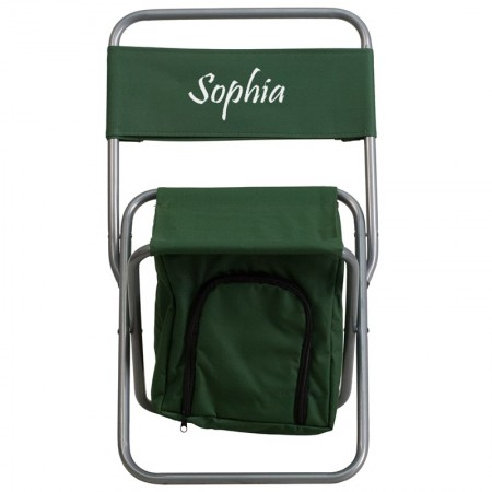 Flash Furniture TY1262-GN-GG Green Folding Camping Chair with Insulated Storage