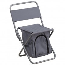 Flash Furniture TY1262-GY-GG Gray Folding Camping Chair with Insulated Storage
