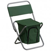 Flash Furniture TY1262 Folding Camping Chair with Insulated Storage