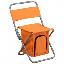 Flash Furniture TY1262-OR-GG Orange Folding Camping Chair with Insulated Storage