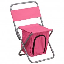 Flash Furniture TY1262-PK-GG Pink Folding Camping Chair with Insulated Storage